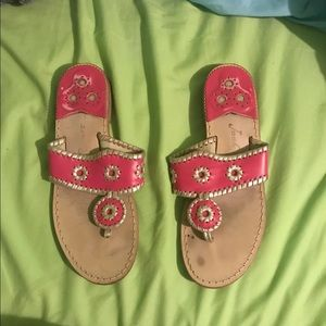 pink and platinum jack rogers size 7.5